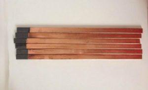 5_18_355mm_copper_clad_flat_welding_carbon_stick_30pcs_blasting_gouging_rods_graphite_electrode